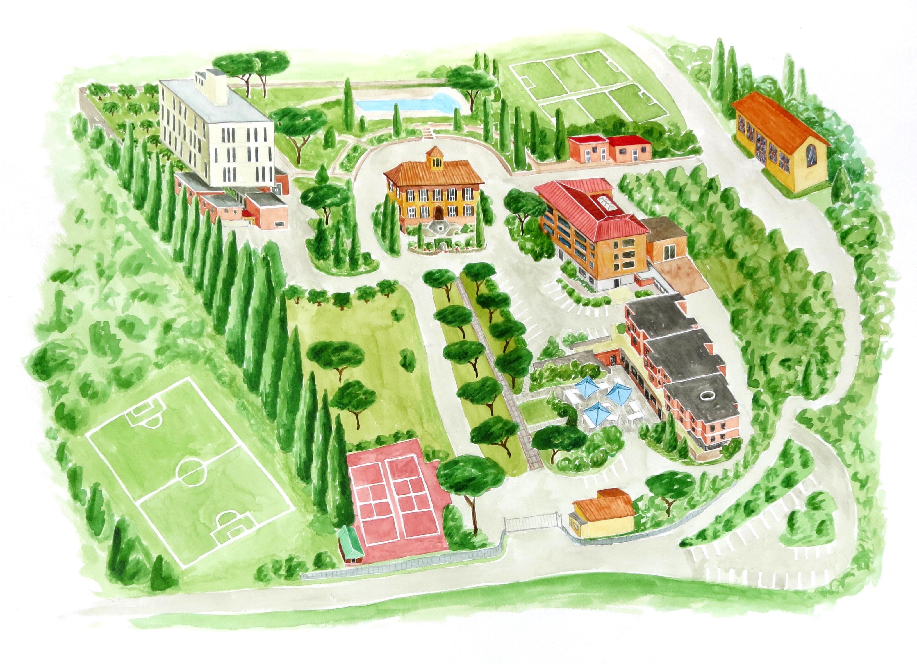 School Campus Map.Campus Map Marymount International School Rome